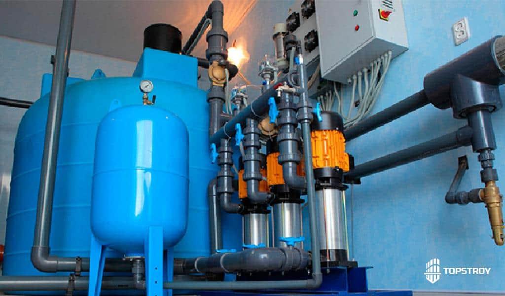 Установка системы фильтрации водоснабжения бассейна