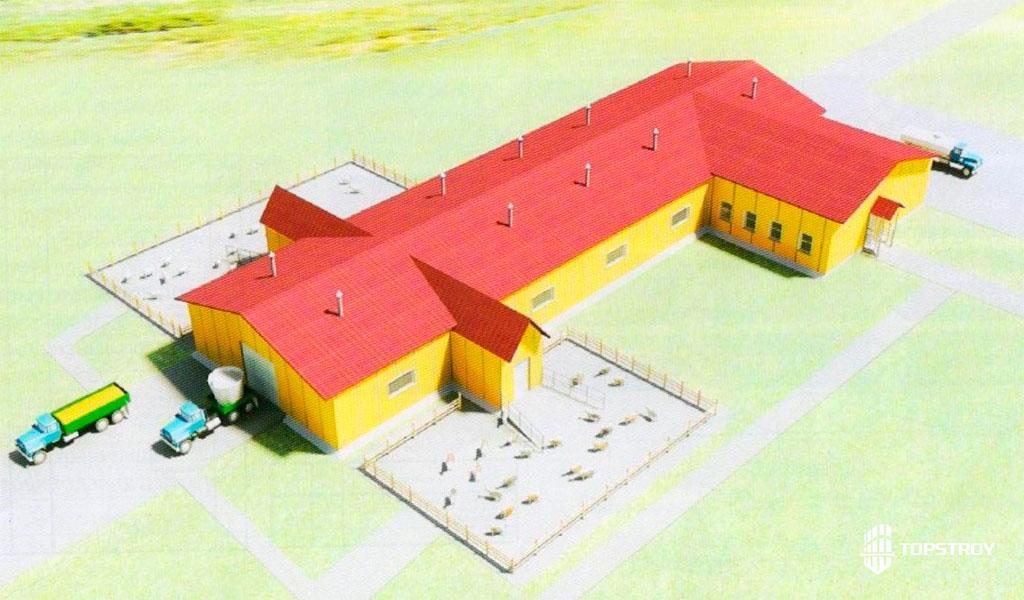 3D визуализация проекта здания из сендвич панелей