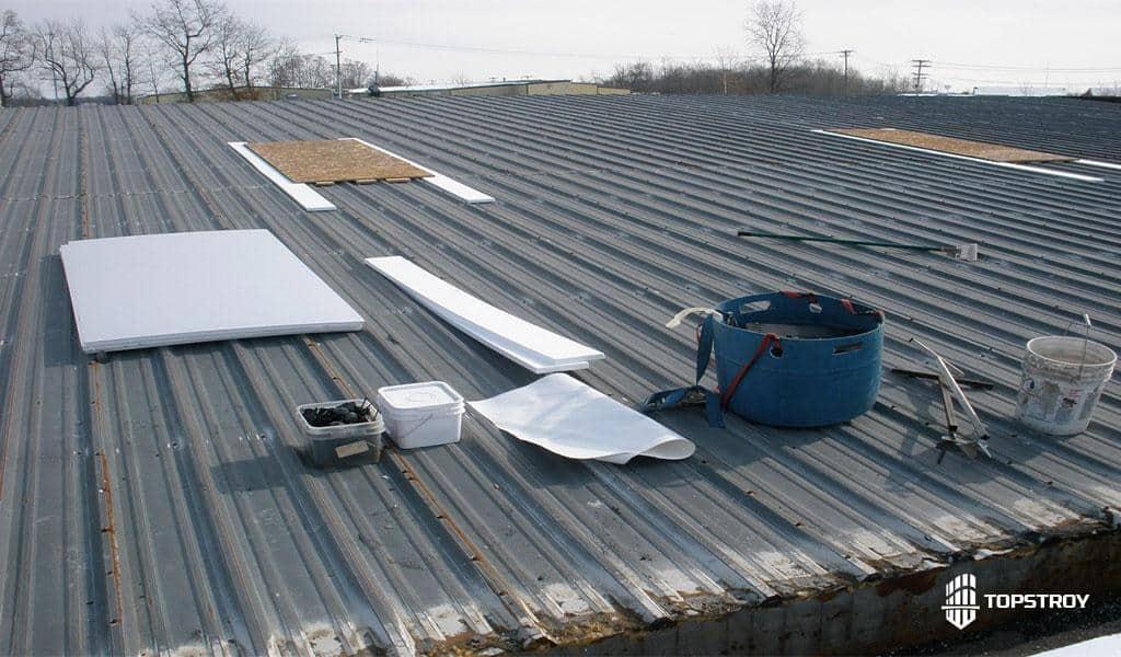 частичный ремонт металлической крыши
