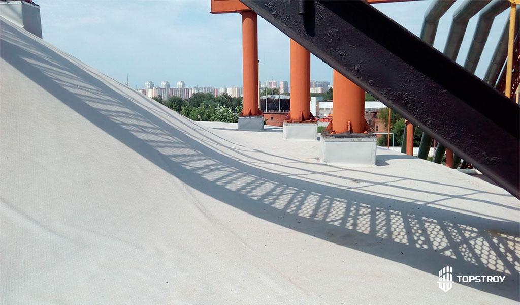 этапы ремонта мембранной крыши