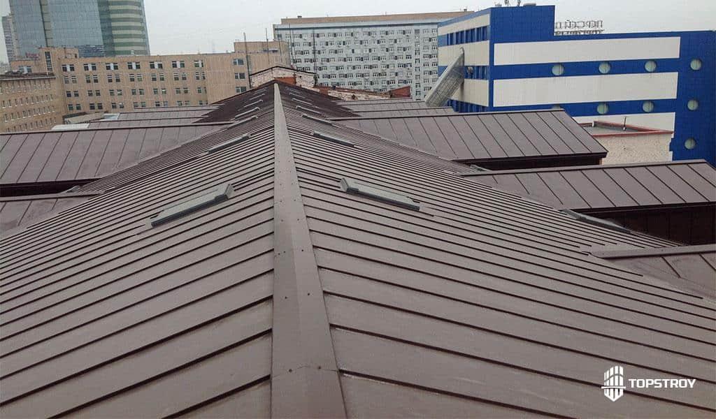 фальцевая крыша после ремонтных работ