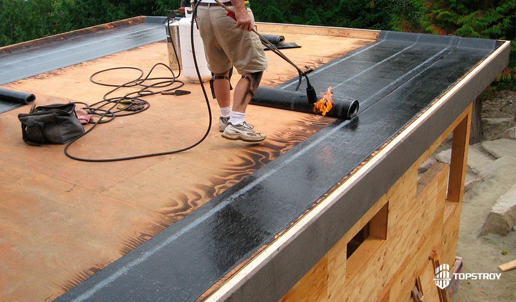 укладка рулонов на плоскую крышу