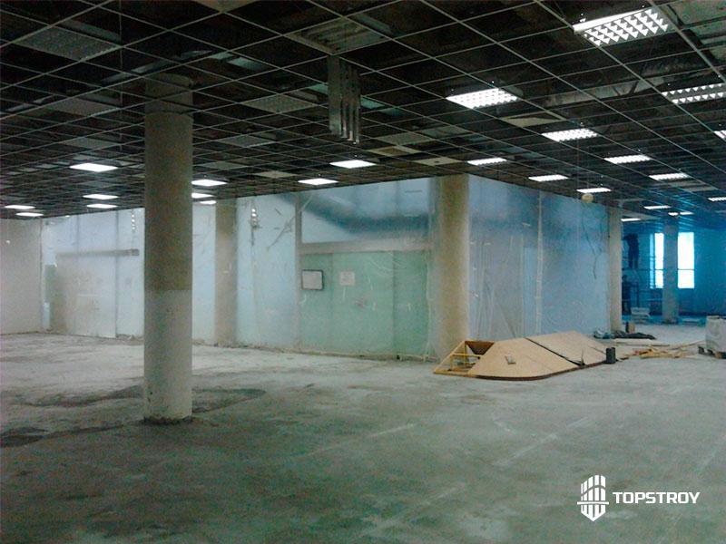 Капитальный ремонт в торговом центре