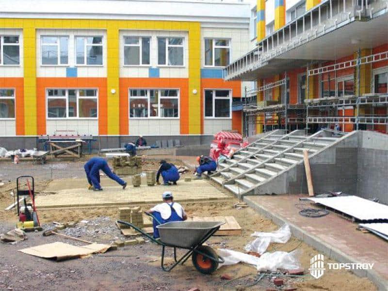 Ремонт фасада детского сада