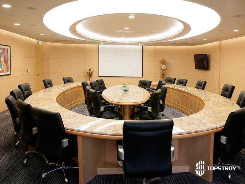 Элитный ремонт зала для совещаний