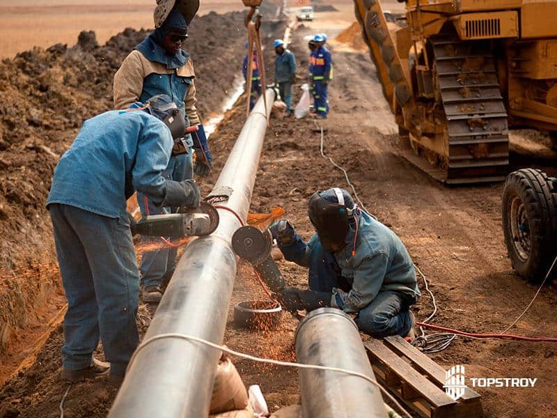 Монтаж магистрального трубопровода