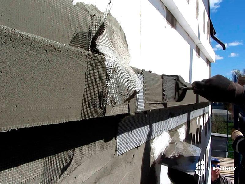 Монтаж мокрого фасада