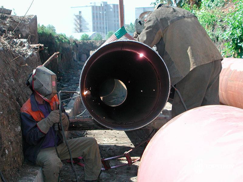 Прокладка стальных труб