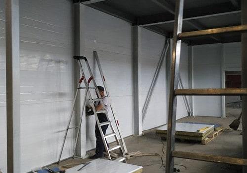 Хранилище для полуфабрикатов из металлоконструкций и сендвич панелей