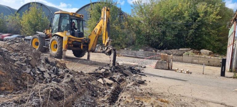Замена ливневой канализации на предприятии